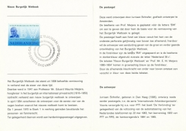 æ E 102 - 1970 Nieuw Burgerlijk Wetboek Emissiegegevens PTT