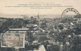 © 1922 MARTINIQUE Harbor and ships
