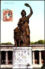 © 1910 - BAVARIA Statue Bavaria Munich with lion