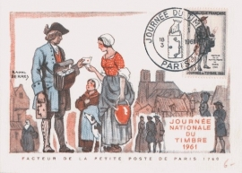 1961 FRANCE - Mail Delivery