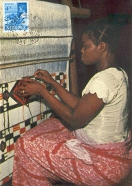 1965 NIGERIA - Textile worker Weaving