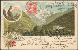 © 1904 SWITZERLAND Flag White cross
