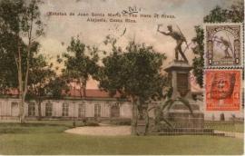© 1922 COSTA RICA Statue Juan Santa Maria