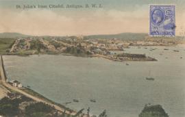 © 1931 - ANTIGUA Coast line St. John's