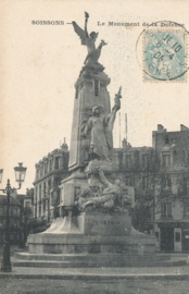 © 1905 - FRANCE Monument of the Defence - Soissons