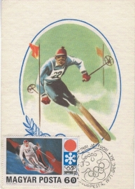 1971 HUNGARY - Ski racing Sapporo