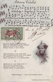 © 1912 MARTINIQUE Creole woman costume
