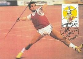 1996 SAN MARINO Javelin Olympics Atlanta