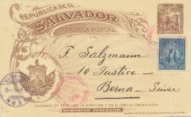 © 1896 - EL SALVADOR Volcano