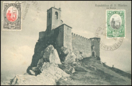 © 1929 - SAN ******** MARINO Castle on rock