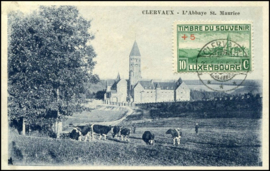 © 1938 LUXEMBOURG Clervaux Abbey