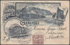 © 1895 SWITZERLAND Flag White cross