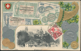 © 1909 SWITZERLAND Coins Helvetia
