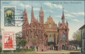 © 1921 - Central Lithuania - St. Anne's church