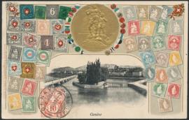 © 1907 SWITZERLAND Stamp White cross