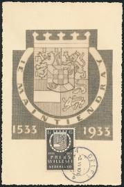 © 1939 NETHERLANDS House of Orange Coat of arms