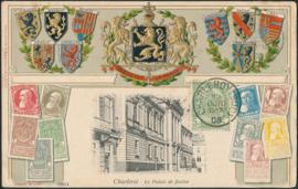 © 1908 - BELGIUM Coat of arms