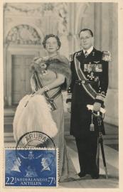 ®® 1955 NVPH 254 NED. ANTILLEN Koningin Juliana Prins Bernhard