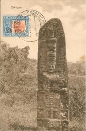 © 1934 GUATEMALA Maya monument at Quirigua