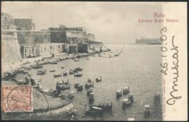 © 1903 - MALTA Great harbor Valletta