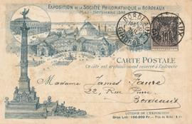 © 1895 - FRANCE Monument aux Girondins Bordeaux