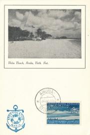 ®® 1954 NVPH 246 NED. ANTILLEN Strandgezicht Aruba