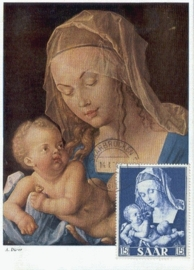 1954 SAAR - Madonna and child