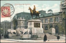 © 1907 - BAVARIA Statue Luitpold Nürnberg with lions