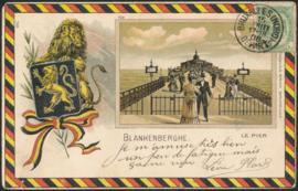 © 1906 - BELGIUM Coat of arms Lion