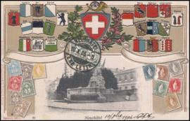 © 1906 SWITZERLAND Stamp White cross