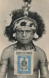 © 1954 - PAPUA Local warrior