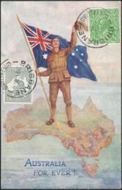 © 1916 - AUSTRALIA Map