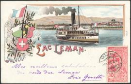 © 1900 SWITZERLAND Flag White cross