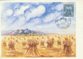 1958 ANDORRA - Harvest Grain