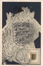 1955 GERMANY - Stuttgart Heraldic Lion