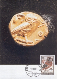 1981 BELGIUM - Owl on coin