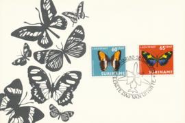 ®®® 1972 - CATA LP56/57 - SURINAME Vlinders