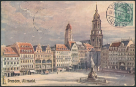 © 1912 - GERMAN REICH - Dresden Statue Germania