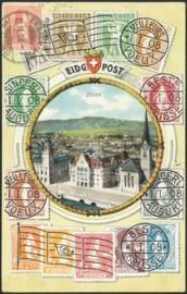 © 1908 SWITZERLAND Stamp Helvetia