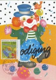 1993 FRANCE - Circus clowns
