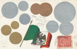 © 1908 - MEXICO Heraldic eagle Coat of arms