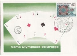1976 MONACO - Playing cards Bridge