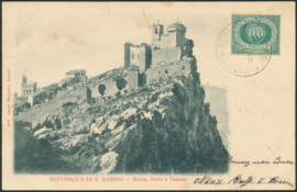 © 1900 - SAN ******** MARINO Three towers