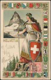 © 1905 SWITZERLAND Shield White cross