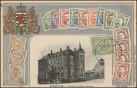 © 1910 LUXEMBOURG Coat of arms