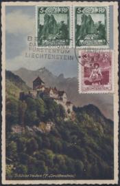 © 1934 LIECHTENSTEIN Castle Vaduz