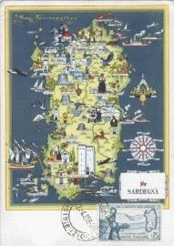 1958 ITALY - Map Sardinia