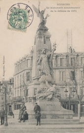 © 1907 - FRANCE Monument of the Defence - Soissons