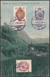 © 1920 LIECHTENSTEIN Castle Vaduz