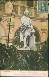 © 1909 - CUBA - Statue of Columbus